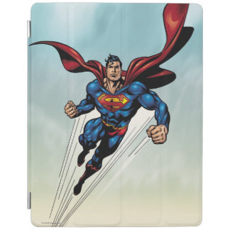 Superman leaps upward iPad cover