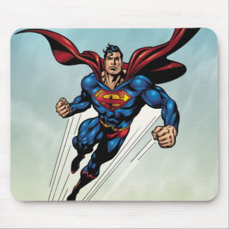 Superman leaps upward mouse mat
