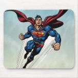 Superman leaps upward mouse pad