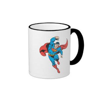 Superman Left Fist Raised Coffee Mugs