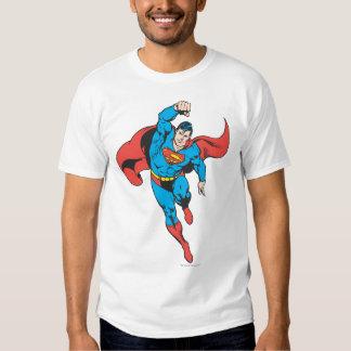 Superman Left Fist Raised T Shirts