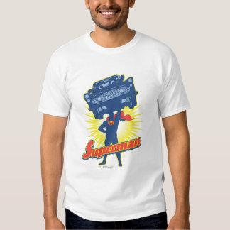 Superman lifts a car 2 t shirts