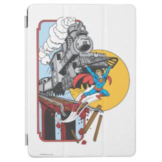 Superman Lifts Train iPad Air Cover