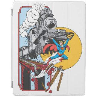 Superman Lifts Train iPad Cover