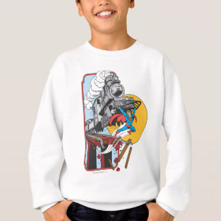 Superman Lifts Train Sweatshirt