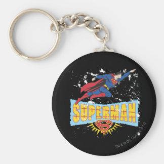 Superman Logo and Flight Key Ring