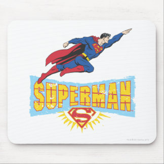 Superman Logo and Flight Mouse Pad