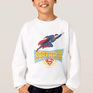Superman Logo and Flight Sweatshirt