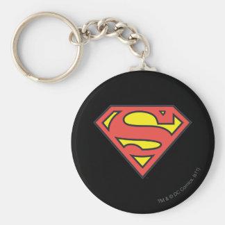 Superman Logo Basic Round Button Key Ring