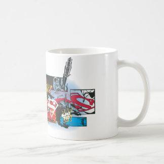 Superman Logo Collage Basic White Mug