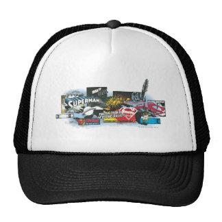 Superman Logo Collage Trucker Hats