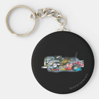 Superman Logo Collage Key Ring