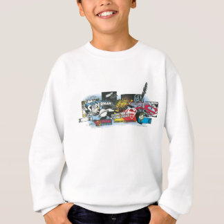 Superman Logo Collage Sweatshirt