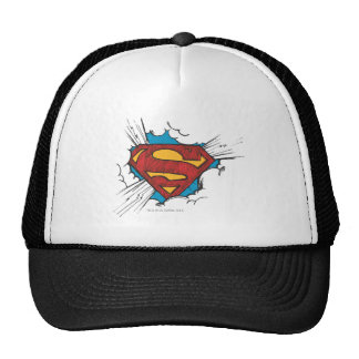 Superman logo in clouds hats