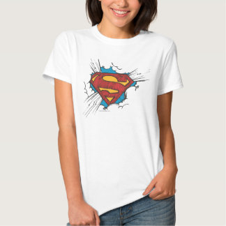 Superman logo in clouds shirt