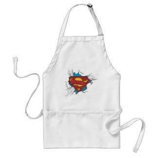 Superman logo in clouds standard apron