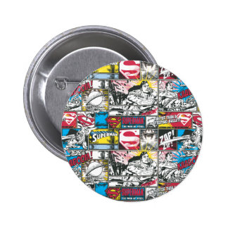 Superman Logo Pattern 2 6 Cm Round Badge
