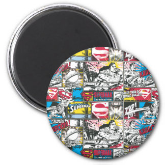 Superman Logo Pattern 2 Magnet