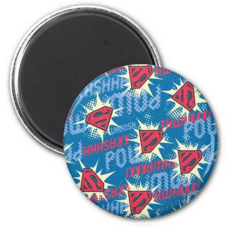 Superman Logo Pattern Magnet