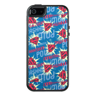 Superman Logo Pattern OtterBox iPhone 5/5s/SE Case