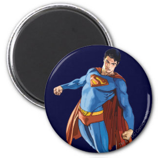 Superman Looking Down 6 Cm Round Magnet