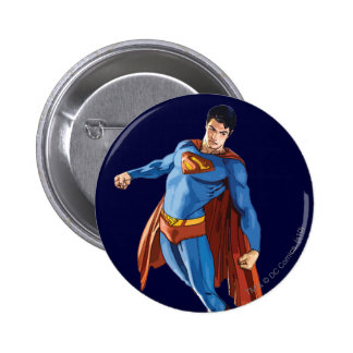 Superman Looking Down Pinback Button