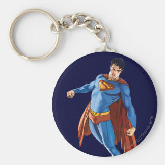 Superman Looking Down Key Ring