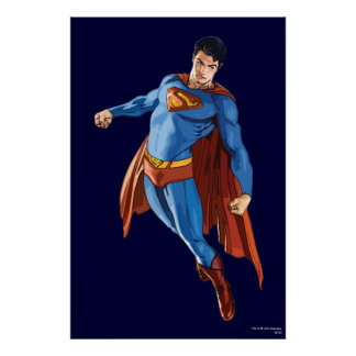 Superman Looking Down Poster