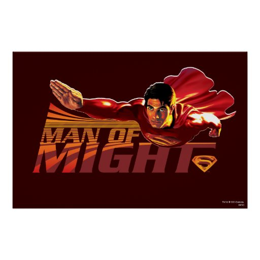 Superman Man of Might Posters