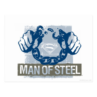 Superman Man of Steel Postcard