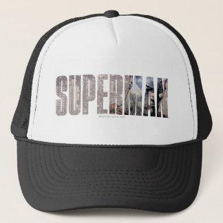 Superman Name Trucker Hat