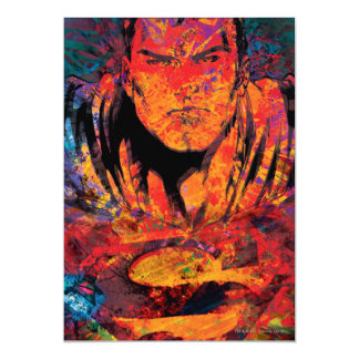 Superman Orange Grunge 13 Cm X 18 Cm Invitation Card
