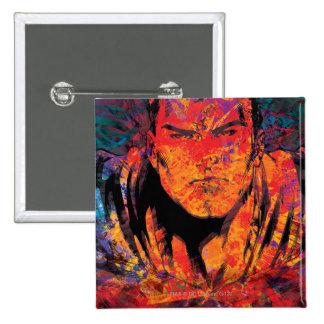 Superman Orange Grunge 15 Cm Square Badge