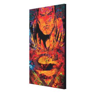 Superman Orange Grunge Canvas Print