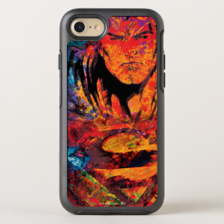 Superman Orange Grunge OtterBox Symmetry iPhone 7 Case
