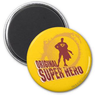 Superman Original Super Hero 6 Cm Round Magnet