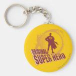 Superman Original Super Hero Basic Round Button Key Ring