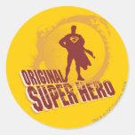 Superman Original Super Hero Round Sticker