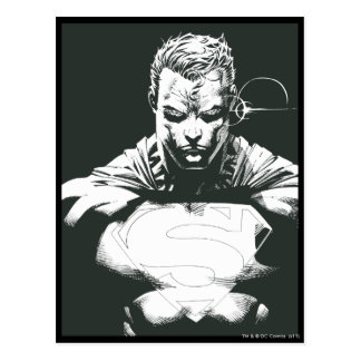 Superman Outline Postcard