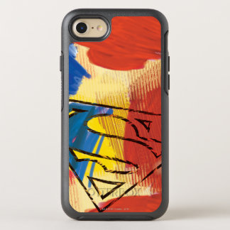 Superman Painted Logo OtterBox Symmetry iPhone 8/7 Case