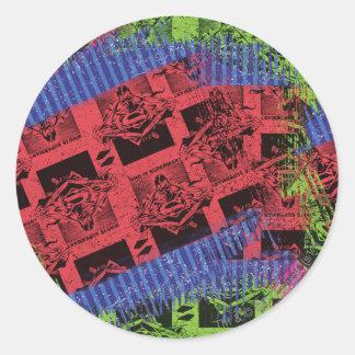 Superman Pattern Classic Round Sticker