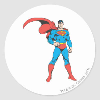 Superman Posing 2 Classic Round Sticker