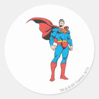 Superman Posing 3 Classic Round Sticker