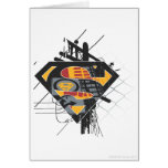 Superman powerlines greeting card