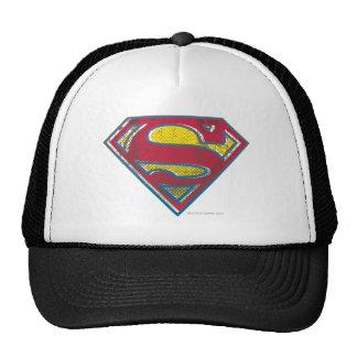 Superman Printed Logo Mesh Hats