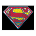 Superman Printed Logo Postcard