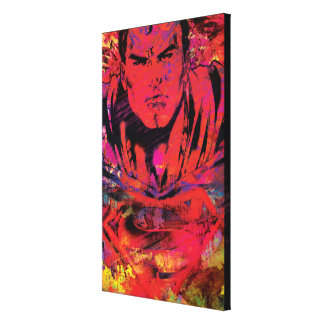 Superman Red Grunge Canvas Print