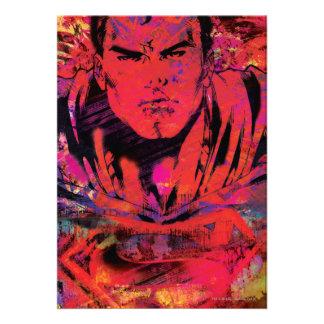 Superman Red Grunge Custom Announcements