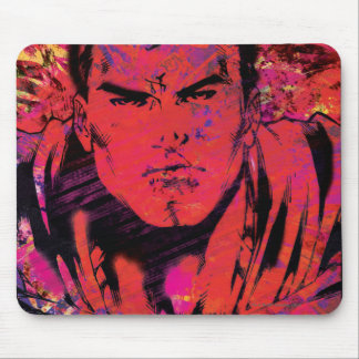 Superman Red Grunge Mouse Pad