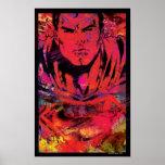 Superman Red Grunge Poster
